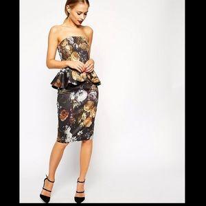 ASOS smokey floral peplum dress - 2